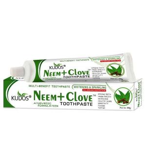 натуральная зубная паста Ним + Гвоздика Кудос (Neem + Clove Kudos), 100 гр.