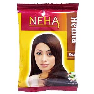 хна для волос Неха Коричневая (Neha Henna Brown), 20 гр.
