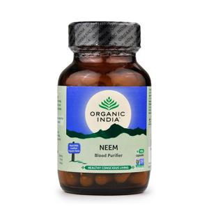 Ним Органик Индия (Neem Organic India), 60 вегетарианских капсул