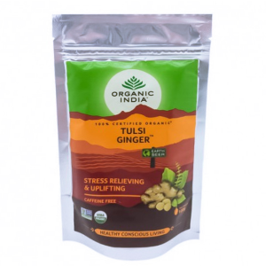 Чай органический из Тулси с имбирём Organic India, 100 грамм