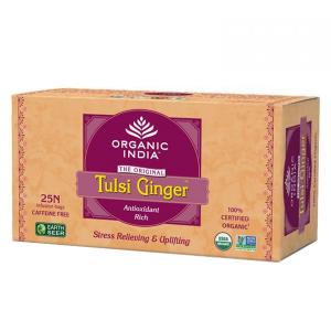 Чай органический из Тулси с имбирём Organic India, 25 пакетиков