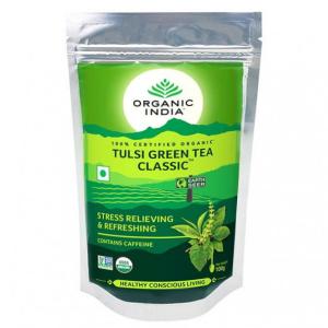 Чай органический из Тулси зелёный чай Organic India, 100 грамм
