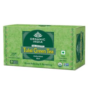 Чай органический из Тулси зелёный чай Organic India, 25 пакетиков
