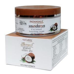 увлажняющий крем для лица Патанджали с кокосом (Saundarya Coconut Cream Patanjali), 50 мл.