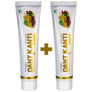 аюрведическая зубная паста Дент Канти Адвансед, Патанджали (Dant Kanti Advanced, Patanjali), 100+100 гр.