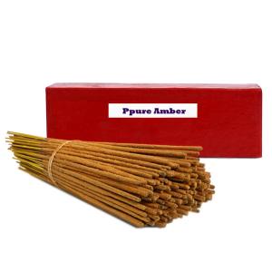 ароматические палочки в цветочной пыльце Амбер (Ppure Vrindavan AMBER), 200 гр.