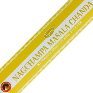 масальные ароматические палочки Чандан (Nagchampa Masala Chandan Ppure), 15 гр.