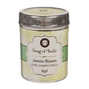 Сухой шампунь-кондиционер на основе мыльных бобов Шикаккай Цветение Жасмина (Herbal Shampoo powder Songc of India), 50 гр.