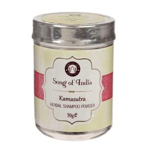 Сухой шампунь-кондиционер на основе мыльных бобов Шикаккай Камасутра (Herbal Shampoo powder Songc of India), 50 гр.