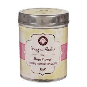 Сухой шампунь-кондиционер на основе мыльных бобов Шикаккай Роза (Rose Songc of India), 50 гр.