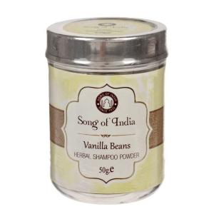 Сухой шампунь-кондиционер на основе мыльных бобов Шикаккай Ваниль (Vanilla Songc of India), 50 гр.
