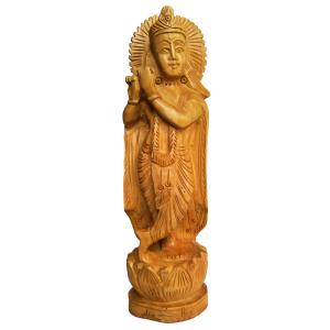 статуэтка Кришна, дерево