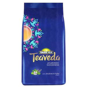 премиальный чёрный чай Ассам с добавлением Тулси и Брами Tata TeaVeda, 250 грамм