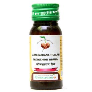 масло для депиляции Ломасатхана тайлам (Lomasathana Thailam Vaidyaratnam), 25 мл.