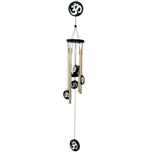 музыка ветра 4 трубочки Ом металл Золото, высота 70 см.