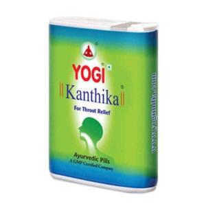 от боли в горле и простуды Йоги Кантика Йоги Аюрведа (Yogi Ayurveda Kanthika), 140 драже