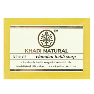 Натуральное мыло Кхади Сандал и куркума (Khadi Chandan Haldi Soap), 125 грамм