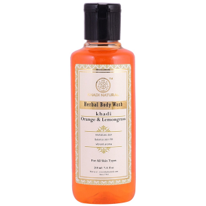 гель для душа Апельсин и Лемонграсс Кхади (Orange & Lemongrass herbal body wash Khadi), 210 мл.