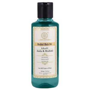 масло для волос Амла и Брахми Кхади (Amla & Brahmi Herbal Hair Oil, Khadi), 210 мл