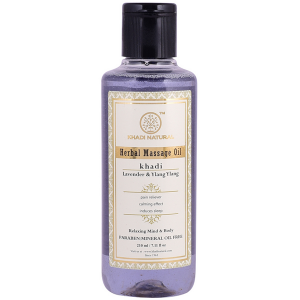 Массажное масло Лаванда и Иланг-Иланг Кхади (Lavender & Ylang Ylang Herbal Massage Oil Khadi), 210 мл