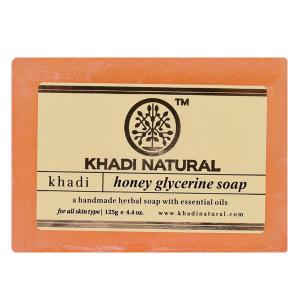 Натуральное медовое глицериновое мыло Кхади (Honey Glycerine Soap Khadi Natural), 125 грамм