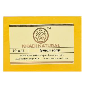 Натуральное мыло Кхади Лимон (Khadi Lemon Soap), 125 грамм