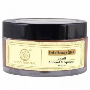 Крем для лица Кхади с Миндальным и Абрикосовым маслом (Almond Apricot Khadi Natural), 50 гр.
