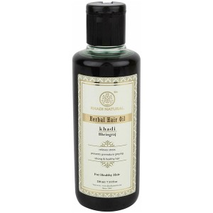 масло для волос Брингарадж Кхади (Bhringaraj Herbal Hair Oil, Khadi), 210 мл