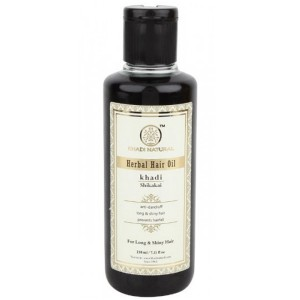 масло для роста контроль выпадения Кхади (Shikakai herbal hair oil, Khadi), 210 мл