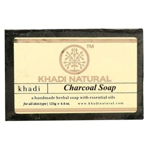 Натуральное мыло Кхади Древесный уголь (Khadi Charcoal Soap), 125 грамм