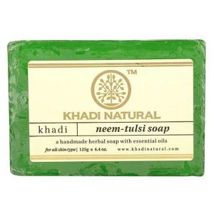 Натуральное мыло Кхади Ним Тулси (Khadi Neem Tulsi Soap), 125 грамм