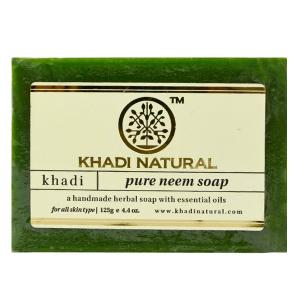 Натуральное мыло Кхади Ним (Khadi Pure Neem Soap), 125 грамм