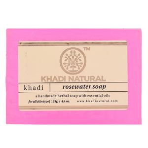 Натуральное мыло Кхади Розовая вода (Khadi Rosewater Soap), 125 грамм