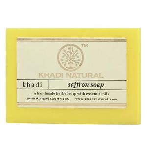 Натуральное мыло Кхади Шафран (Khadi Saffron Soap), 125 грамм