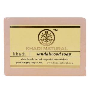 Натуральное мыло Кхади Сандал (Khadi Sandalwood Soap), 125 грамм