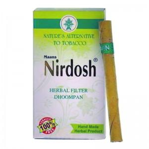 Нирдош сигареты без никотина с фильтром (Nirdosh Maans), 10 сигарет