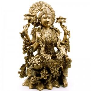 статуя Богиня Лакшми, бронза 40 см