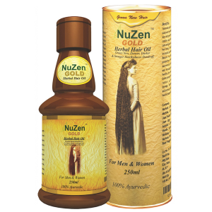 масло для роста волос Nuzen Gold herbal hair oil, 100 мл