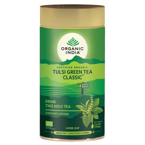 Чай органический из Тулси и зелёного чая Органик Индия (Tulasi Green Tea Organic India), 100 грамм