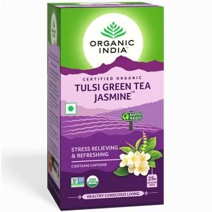 Чай органический из Тулси с Зелёным чаем и Жасмином Organic India, 25 пакетиков