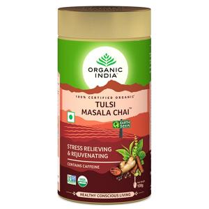Чай органический Тулси Масала Органик Индия (Tulsi Masala Chai Organic India), 100 грамм