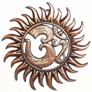 металлическое панно Ом-солнце, 27 см
