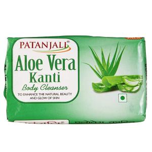 Натуральное мыло Патанджали Алое Вера (Kanti Aloe Vera Patanjali), 150 гр