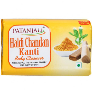 Натуральное мыло Патанджали Сандал и Куркума (Haldi Chandan Patanjali), 150 гр