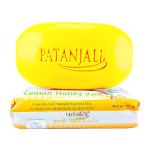 Натуральное мыло Патанджали Лимон и Мёд (Kanti Lemon Honey Patanjali), 75 гр