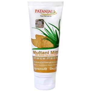 Маска для лица Мултани Митти Патанджали (Multani Mitti Face Pack Patanjali), 60 грамм