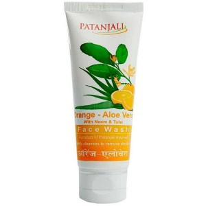 Гель для умывания Апельсин и Алоэ Вера Патанджали (Orange & Aloe Vera Face Wash Patanjali), 60 грамм