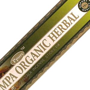 масальные ароматические палочки Органические травы (Organic Herbals Ppure), 15 гр.