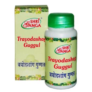 Трайодашанг Гуггул Шри Ганга (Trayodashang Guggulu Shri Ganga), 100 гр