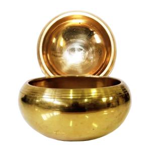 Поющая чаша литая для настройки чакр сплав 7 металлов, 9 см